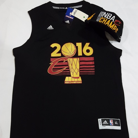 b4a1ca24dd3 2016 Cleveland Cavs Championship Jersey   Hat. NWT. Adidas.  100  125. Size